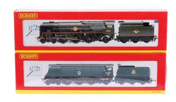 4021: Hornby 4-6-2 BR (SR) Green Steam Locos x 2