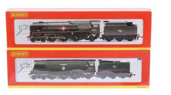 4022: Hornby 4-6-2 BR (SR) Green Steam Locos x 2