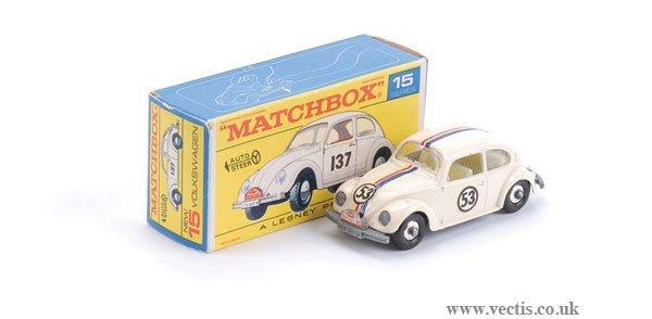 2003: Matchbox No.15d Volkswagen Beetle Rally Car