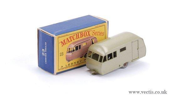 2010: Matchbox No.23c Bluebird Dauphine Caravan
