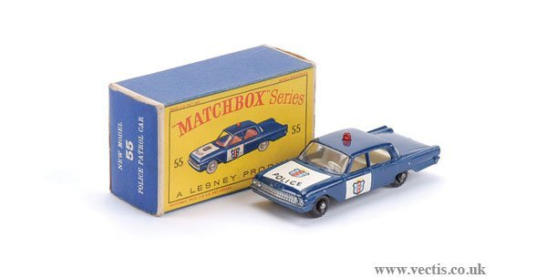 "2018: Matchbox No.55b Ford Fairlane ""Police"" Car"