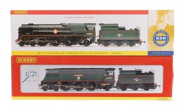 1002: Hornby 4-6-2 BR Green Bulleid Pacific Locos x 2