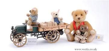 3284: Steiff Delivery Cart Teddy Bears 2003 038914