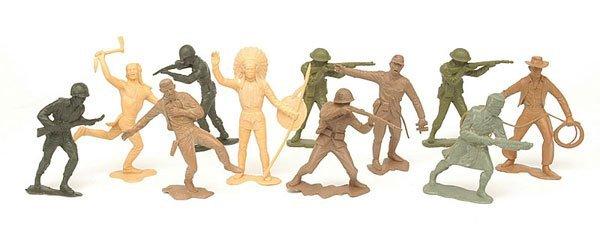 """4011: Marx - 5"""" [12.5cm] Plastic Action Figures"""