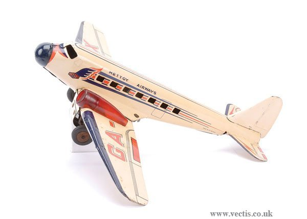 4525: Mettoy Airways (UK) Tinplate Clockwork Airliner