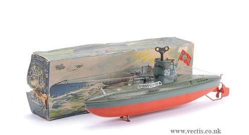 4682: Arnold Pre-war Tinplate Clockwork Submarine