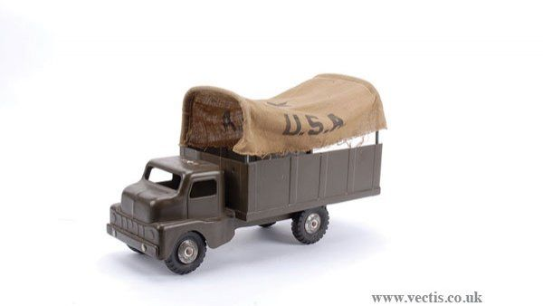 4813: Structo Toys (USA) Pressed Steel Army Truck