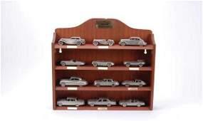 2084: Danbury Mint Pewter Jaguars x 15