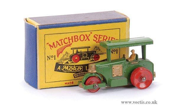 1: Matchbox No.1a Aveling Barford Road Roller