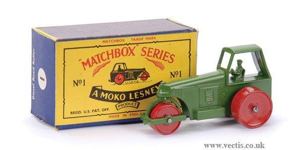 9: Matchbox No.1c Aveling Barford Road Roller