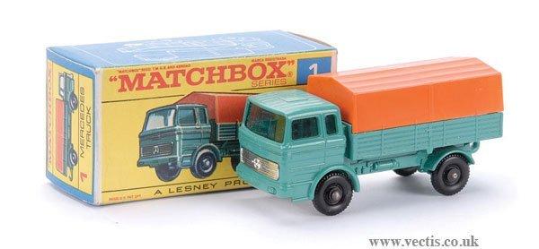 13: Matchbox No.1e Mercedes LP Covered Truck