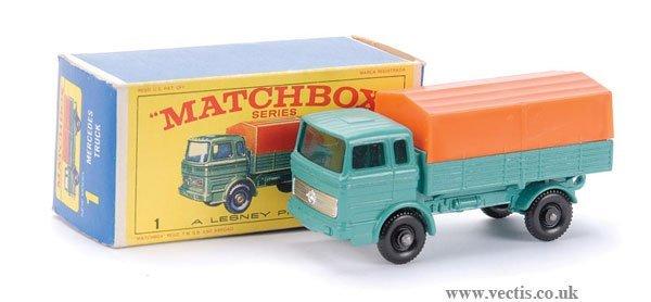 14: Matchbox No.1e Mercedes LP Covered Truck
