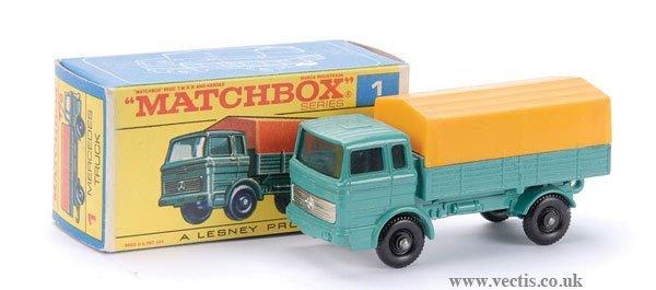 15: Matchbox No.1e Mercedes LP Covered Truck