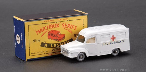 "281: Matchbox No.14c Bedford Lomas ""Ambulance"""