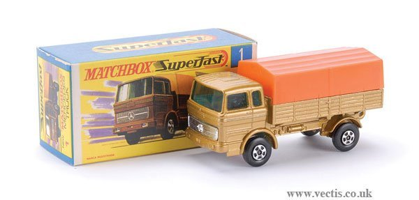 726: Matchbox No.1 Mercedes LP Covered Truck