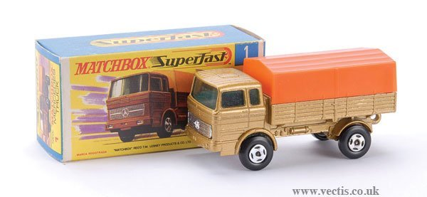 727: Matchbox  No.1 Mercedes LP Covered Truck