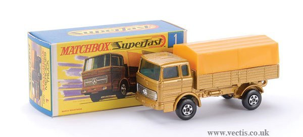 728: Matchbox  No.1 Mercedes LP Covered Truck