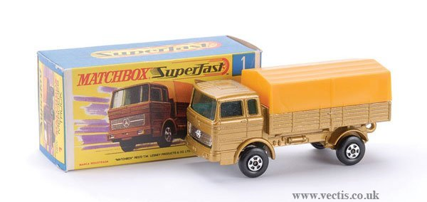729: Matchbox  No.1 Mercedes LP Covered Truck