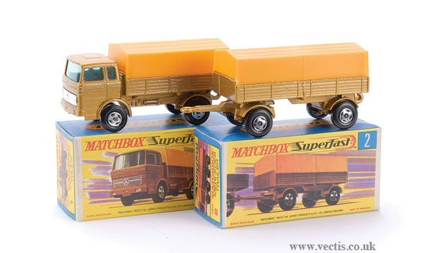 730: Matchbox  No.1 Mercedes LP Covered Truck