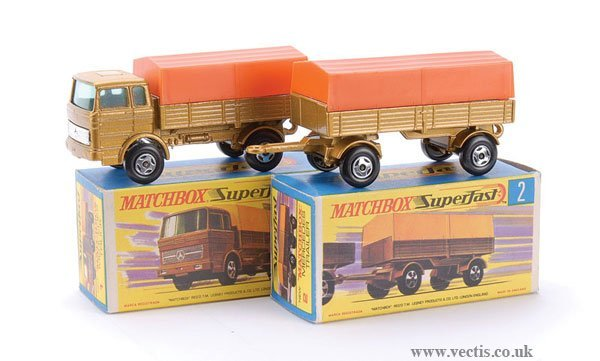 731: Matchbox  No.1 Mercedes LP Covered Truck