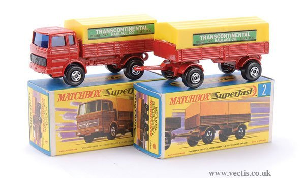 732: Matchbox  No.1 Mercedes LP Covered Truck