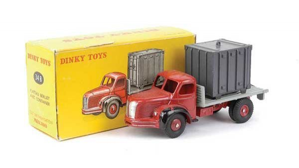 1440: French Dinky No.34B Berliet Lorry with Container
