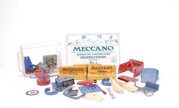 3022: Meccano No.1/2 Car and Aeroplane Parts