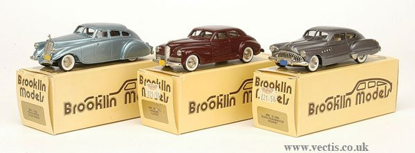1007: Brooklin Models - A Group of American Cars