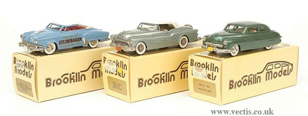 1009: Brooklin Models - A Group of American Cars