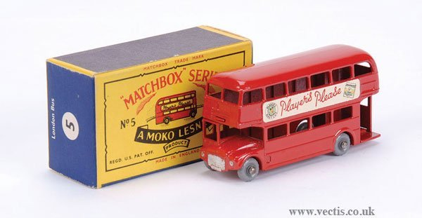 "2020: Matchbox No.5c Routemaster Bus ""Players Please"""
