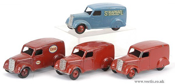 3004: Dinky No.280 Delivery Vans x 4