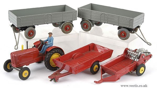 3017: Dinky No.300 Massey Ferguson Tractor & Others
