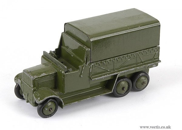 3019: Dinky No.151B Pre-war 6-wheeled Covered Wagon