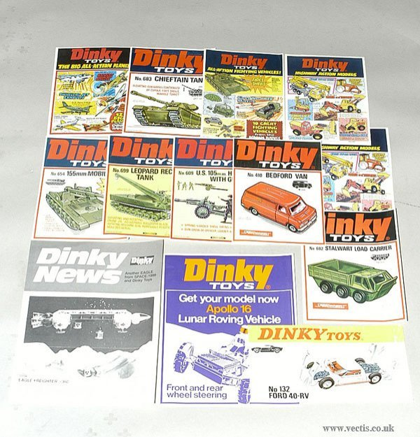3022: Dinky Toys - A Group of Window Adverts
