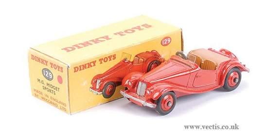 2259: Dinky No.129 MG Midget US Issue