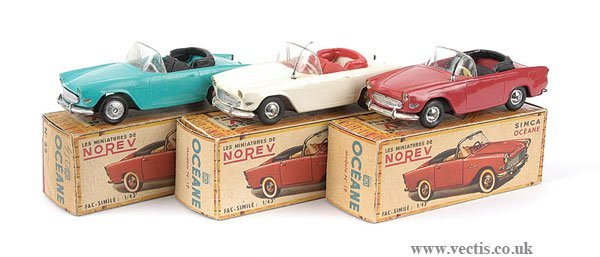3006: Norev - A Group of Simca Oceane Cars