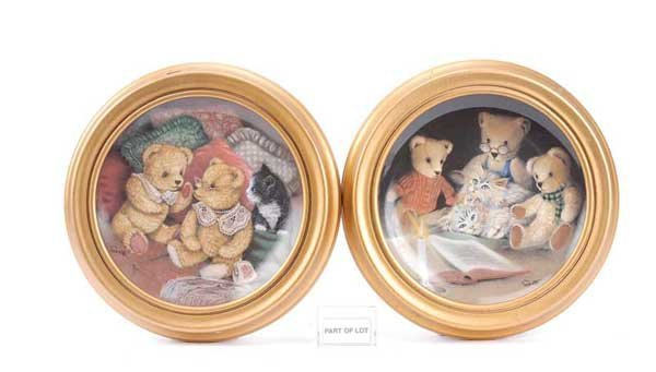 1023: Franklin Mint Sue Willis Six Teddy Bear Plates