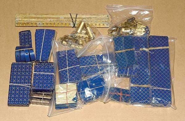 4019: Meccano Pre-war Blue & Gold Components