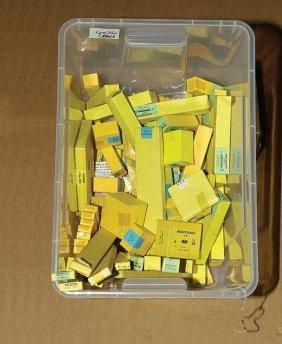 4024: Meccano Empty Yellow Trade Boxes