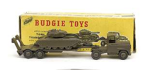 Budgie Military Tank Transporter with Tank