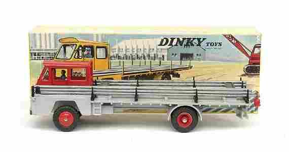 1945: French Dinky No.885 Saviem Sinpar Pipe Carrier
