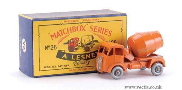 5: Matchbox No.26a-7 ERF Cement Mixer