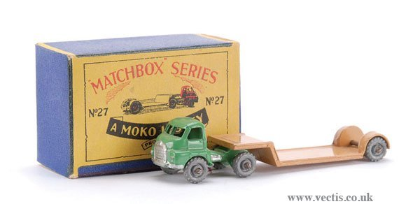 19: Matchbox No.27a-3 Bedford Articulated Low Loader
