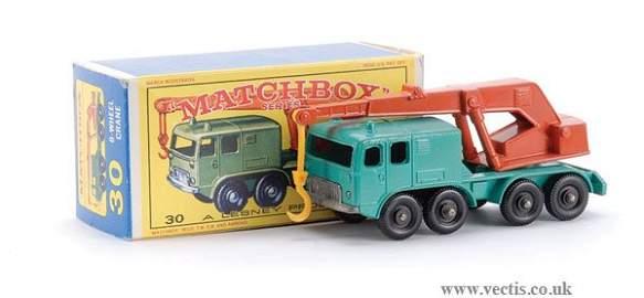 106: Matchbox No.30c-5 Faun 8-wheel Crane Truck