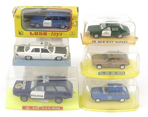 1212: Mira, Pilen, Luso Toys - A Group of Police Cars