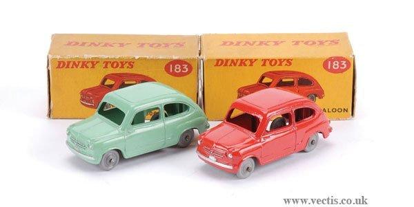 3008: Dinky No.183 Fiat 600 Saloon x 2