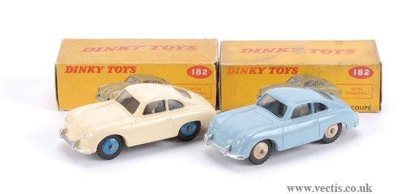 3009: Dinky No.182 Porsche 356A Coupe x 2