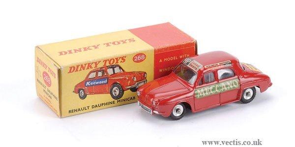 3018: Dinky No.268 Renault Dauphine Mini Cab