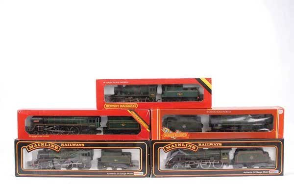 4065: OO Gauge - A Group of BR Green Steam Locos