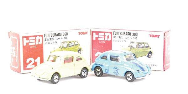 3016: Tomica 2 x No.21 Subaru 360